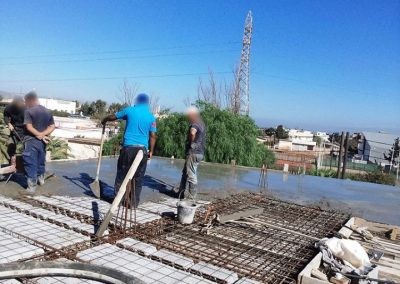 COULAGE DALLE POMPE BETON